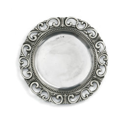 Arte Italica - Donatello Charger - Add a regal touch to your table with this handmade charger, imported from Italy. Nothing else has the stately presence of pewter, and this distinctively designed piece is guaranteed to impress your guests with your buon gusto.