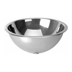 Renovators Supply - Vessel Sinks Stainless Steel Saturn Vessel Chrome Pop-Up Drain - Stainless Steel Double Layer Vessel Sinks are stunning in look and design! The sturdy double layered vessel sink allows the overflow to be concealed and out of sight! Also the double layer construction prevents condensation and noise unlike other flimsy metal vessel sinks. Easy to clean, easy to install and easy on the eyes! Chrome pop-up drain included.