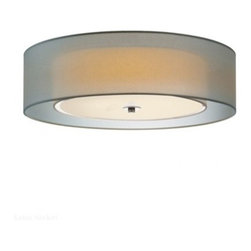 """Sonneman - Sonneman Puri 22"""" Surface Mount - The Puri 22 Surface Mount by Sonneman has been designed by Robert Sonn Xeman. Clean lines and detail give a modern look and feel to this Sonneman Lighting wall sconce. From the Puri Collection, this contemporary fixture feature a double layer shade made from a beautiful silver organza fabric over a white linen shade. To complete the look, black brass and Satin nickel finish has been used.  Product description:  The Puri 22 Surface Mount by Sonneman has been designed by Robert Sonn Xeman. Clean lines and detail give a modern look and feel to this Sonneman Lighting wall sconce. From the Puri Collection, this contemporary fixture feature a double layer shade made from a beautiful silver organza fabric over a white linen shade. To complete the look, black brass and Satin nickel finish has been used.  Details:      Manufacturer:     Sonneman      Designer:    Robert Sonneman        Made in:    USA        Dimensions:     Shade:Diameter:22"""" (55.88 cm) X Height:6"""" (12.7 cm) Canopy Diameter:10"""" (24.5 cm)        Light bulb:     3 X SBCFL GU24 Base Max 13W Flourescent (not included)         Material:     Organza"""