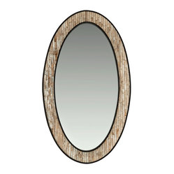 Oval Capiz Seashell-Framed Wall Mirror