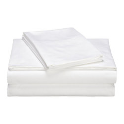 Melange Home - 600 Thread Count 100% Egyptian Cotton Hemstitch Sheet Set Queen, Queen - Our 600 Thread Count Hemstitch Sheet Set are woven using very fine durable cotton sateen yarns. The flat sheets and pillowcases are finished with a classic hemstitch. The fitted sheets are cut to fit mattresses up to 15-inches deep - producing the ultimate in performance, comfort and elegance.