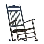 Dixie Seating Classic Indoor/Outdoor Rocker, Black - This is a classic indoor / outdoor standard adult slat porch rocking chair. The chair is made of solid ash hardwood and this chair is available in 6 colors & unfinished. This chair measures 46 inches tall by 26 inches wide and 31 inches deep. Comes in the RTA (Ready to Assemble) format and features easy assembly, about 30 minutes. Made in the USA!