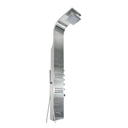 AKDY - AKDY AK-Z8727 Stainless Steel Shower Panel with Rainfall Shower Head, Stainless - This new AKDY luxurious shower panel has just newly arrived to North America and it is one of the best shower panels you can find in the market. The body of the shower panel is made of high quality stainless steel. It comes with several functions, including an overhead shower, a hand-held showerhead, 8 body massage nozzles, and a tub spout. All function can work at the same time. By buying this unique and lavishing shower panel, you would be able to enjoy a higher level of showering experience after every day's hard work!