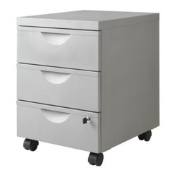 IKEA of Sweden - ERIK Drawer unit w 3 drawers on casters - Drawer unit w 3 drawers on casters, silver color