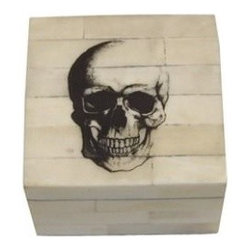 Skull Head Bone Etched Box - This is for your friend who likes a little spot of something edgy and unexpected.
