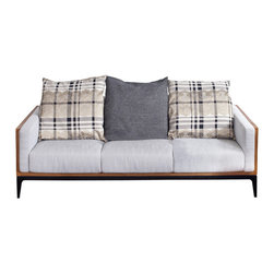 NyeKoncept - Dagne, Sofa - This classic contemporary design is the best choice for adding elegance as well as comfort to your living room or office. The cushions filled with high flexibility sponge and the solid low center frame offer maximum comfort and stability.