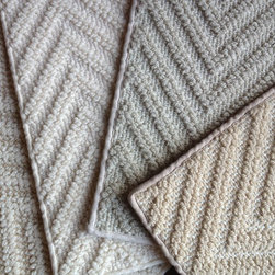 Herringbone Wool Carpet - Herringbone woven back wool carpet - Available for wall to wall installation or as an area rug.