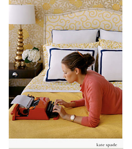 contemporary  Kate Spade ad bedroom