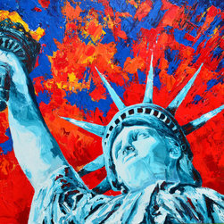 Lady Liberty - Original acrylic painting on stretched canvas 22 x 28 inches