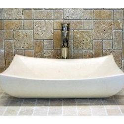Nature-Inspired Bathroom - Eden Bath EB_S011LM-P Stone Vessel Deep Zen Sink in White Limestone