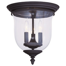Livex Lighting 5021 Legacy 3 Light Flush Mount Ceiling Fixture, Black - Amazon.c