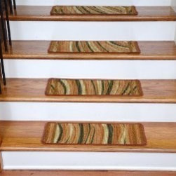 "Dean Flooring Company - Washable Non-Skid Carpet Stair Treads - Jazzy Terra Cotta (13) - Washable Non-Skid Carpet Stair Treads - Jazzy Terra Cotta (13) : Washable non-skid carpet stair treads by Dean Flooring Company. Helps reduce slips on your hardwood stairs. Great for helping your dog easily navigate your slippery staircase. Polypropylene pile with a machine washable non-skid latex backing (wash on delicate in cold water, line dry). Also easy to spot clean or vacuum. Reduces noise. Reduces wear and tear on your hardwood stairs. Each set contains 13 pieces. Each tread is approximately 25"" x 9"". Easy DIY installation with double-sided carpet tape (not included). Adds an attractive fresh new look to your staircase."