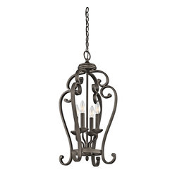 Kichler Lighting - Kichler Lighting 43165OZ Monroe Traditional Foyer Light - Kichler Lighting 43165OZ Monroe Traditional Foyer Light