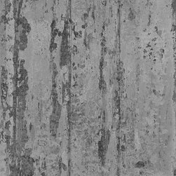 Walls Republic - Crude Slate Grey Wallpaper R1378, Double Roll - Crude is a tone on tone wallpaper with a peeled bark look. It can help fashion a vintage or rustic scheme in your interiors.Use this faux finish style in your living room for a simple, yet impactful look.