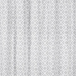 Sweet Jojo Designs - Diamond Gray & White Shower Curtain by Sweet Jojo Designs - The Diamond Gray & White Shower Curtain by Sweet Jojo Designs, along with the  bedding accessories.