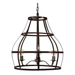 NOIR - NOIR Furniture - Birdcage Pendant 30 - LAMP300, Lamp 306 - Features: