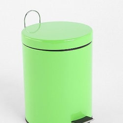 Bright Step Trash Can - Tired of your stainless steel trash can? Swap it out for some neon fun.