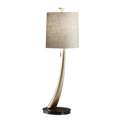Murray Feiss 1 Bulb Ebonized Silver Leaf Lamp