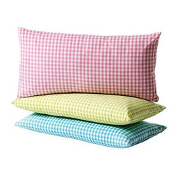 Grenö Cushion - You can't beat the price on these cute gingham pillows. They would look so great on a little wicker chair.