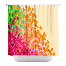 DiaNoche Designs - Shower Curtain Artistic - Creation in Color Autumn Infusion - DiaNoche Designs works with artists from around the world to bring unique, artistic products to decorate all aspects of your home.  Our designer Shower Curtains will be the talk of every guest to visit your bathroom!  Our Shower Curtains have Sewn reinforced holes for curtain rings, Shower Curtain Rings Not Included.  Dye Sublimation printing adheres the ink to the material for long life and durability. Machine Wash upon arrival for maximum softness on cold and dry low.  Printed in USA.