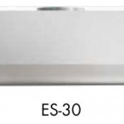 """DCS - ES-30 30"""" Wide EURO High Wall Mount Hood with 600 CFM Internal Blower  4 Level E - The ES-30 30 high wall mount range hood has a CFM rating of 600 The vertical ducting option gives you more flexibility in how you want to install this range hood The 2 level halogen lighting provides ample lighting for your cooktop"""