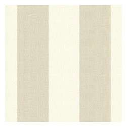 Pale Gray Linen Awning Stripe Fabric - Gray & white awning stripe in luxurious pure linen for an elegant, breezy addition to any classic home.Recover your chair. Upholster a wall. Create a framed piece of art. Sew your own home accent. Whatever your decorating project, Loom's gorgeous, designer fabrics by the yard are up to the challenge!