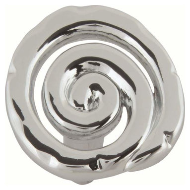 Atlas Homewares - Atlas Homewares 140-Ch Scroll 1 1/2-Inch Door Knob, Polished Chrome - Atlas Homewares 140-Ch Scroll 1 1/2-Inch Door Knob, Polished Chrome