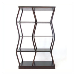 Wayborn - Wayborn Riaze A Double Display in Brown - Wayborn - Bookcases - 5713