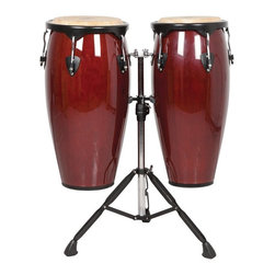 X8 Drums - X8 Drums Endeavor Series Congas - X8-CNG-ENDV-M - Shop for Toy Instruments from Hayneedle.com! We can't help you with the legal paperwork that will change your middle name to Tito Puente Arnez III but we can fulfill that dream you've always had of becoming a real conga-owner with the X8 Drums Endeavor Series Congas. This pair of classic congas feature that rich stirring tone that you only get from a high-quality mahogany body with a water buffalo skin head. There are multiple finishes to choose from but whatever you choose just make sure that you set them up in the heavy duty double stand and get ready to feel that rhythm. A tuning key is included and the powder-coated rims help you keep that bright tone that you'll enjoy producing each time you step up to this conga set.About X8 Drums and PercussionX8 Drums truly walks to the beat of their own drum. This family-owned company is committed to providing the best selection of high-quality musical instruments with an emphasis on world music percussion instruments. X8 Drums has certainly helped champion ethnic hand drums in the digital age thanks to its founders - a New York City rocker and an internet sage.