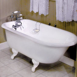 55-inch Celine Cast Iron Roll-top Claw-foot Tub - Do you love a claw-foot tub as much as I do? My family and I are building a new house, and I have a similar tub picked out for it. This may not be the most practical piece, but it looks so romantic to me.