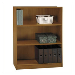 """Bush - Bush Universal 48""""H 3 Shelf Wood Bookcase in Royal Oak - Bush - Bookcases - WL1244503 - Bush Furniture presents this Universal 48"""" Bookcase in a beautiful royal oak finish. It contains 3 shelves and is available in three sizes and three colors. This bookcase provides storage solutions for the home or office setting."""