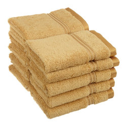 Superior Egyptian Cotton 10pc Gold Face Towel Set - You can never have enough face towels!  Make sure you pick up a pack when planning to have guests or sending that student away to college. Towel Set includes: Ten Face Towels-13x13 each.