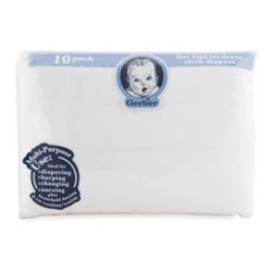 Gerber - Gerber Birdseye 10-Pack Flatfold Cotton Diapers - These Gerber Flatfold Birdseye Diapers are made from 100% cotton, so they are soft and comfortable. Lightweight fabric is also quick drying.