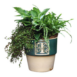 Custom Bookplate Planter, S - Custom Bookplate Planter is hand crafted with stunning attention to detail.
