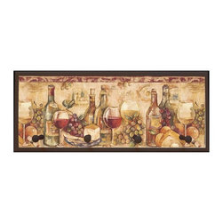 illumalite Designs - Wine Still Life Plaque w Pegs in Brown - Includes hanging hardware. Solid wood base. Made in USA. 25 in. W x 4 in. D x 10.25 in. H (3.44 lbs.)