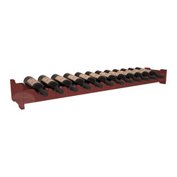 Wine Racks America - 12 Bottle Scalloped Wine Rack in Pine, Cherry Stain - Decorative 12 bottle rack with pressure-fit joints for stacking multiple units. This rack requires no hardware for assembly and is ready to use as soon as it arrives. Makes the perfect gift for any occasion. Stores wine on any flat surface.