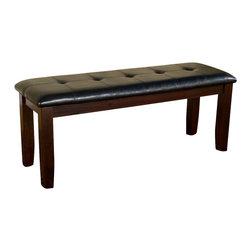 Alpine Furniture - Havenhurst Bench with Faux Leather - Havenhurst Bench with Faux Leather