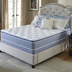 Serta - Serta Revival Pillowtop Twin-size Mattress and Foundation Set - Fall into restful sleep with the comfort and support you desire with this Pillowtop mattress and foundation from Serta. Designed with breathable fibers and plush comfort foams for a comfortable night's sleep.