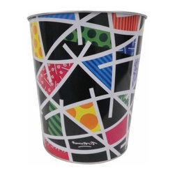 """WL - 10 Inch """"Night Landscape"""" Small Wastebasket Collectible Trashcan - This gorgeous 10 Inch """"Night Landscape"""" Small Wastebasket Collectible Trashcan has the finest details and highest quality you will find anywhere! 10 Inch """"Night Landscape"""" Small Wastebasket Collectible Trashcan is truly remarkable."""