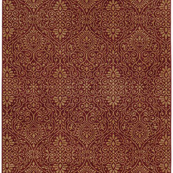 Tommy Bahama Area Rugs - Voyage 091R0 Red and Beige Rectangular: 5 Ft. 3 In. x 7 Ft. 6 In. Rug - - The Voyage collection is ideal for those who desire the traditional look of Tommy Bahama?s dedication to coastal inspired surroundings. Made of extremely durable polypropylene and featuring brilliant color variation, the Voyage collection is perfect for the Tommy Bahama purist.  - Construction: Machine Woven  - Material: Polypropylene  - Care Instructions: Spot clean with water and mild soap  - Primary Pattern: Floral  - Pile Height in Inches: 0.35  - Country of Origin: Egypt Tommy Bahama Area Rugs - 748679395156