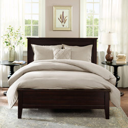 Harbor House - Harbor House Linen Duvet Cover Mini Set - For a causal, yet sophisticated look the Harbor House Linen Duvet is the perfect bedding set. Made from 100% linen the simple design offers comfort and luxury. The duvet is fully reversible so you can easily change the look of your bedroom. Includes 2 shams to complete the look and is machine washable for easy care. Duvet & Sham: 100% linen, enzyme washed face and reverse reversible