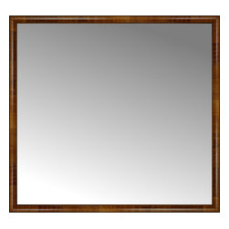 """Posters 2 Prints, LLC - 62"""" x 58"""" Belmont Light Brown Custom Framed Mirror - 62"""" x 58"""" Custom Framed Mirror made by Posters 2 Prints. Standard glass with unrivaled selection of crafted mirror frames.  Protected with category II safety backing to keep glass fragments together should the mirror be accidentally broken.  Safe arrival guaranteed.  Made in the United States of America"""