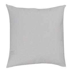 "Bed Linens - Euro Pillow 26x26"" Down Alternative (each), 26X26 inch-Euro- Pillow, White - Down Alternative Euro-Pillows overfilled 28 ounces of Micro-Denier fiber for the softness of a pure down pillow * Euro size pillows, 26x26"" each. * Pillows include durable 100% Egyptian cotton covers * 400 Thread count cover * Filled with Down-Alternative Micro-Fiber Machine wash ."