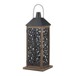 Sterling Industries - Sterling Industries 137-004 Darfield-Large Lantern w/ Filigree Paneling - Lantern (1)