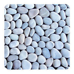 Design For Less - Java Pebble Tile Blend - You'll hardly believe the way your space is so beautifully transformed with this highly unique (not to mention gorgeous) pebble tile. It feels amazing under your feet and brings the calming effects of nature into your home. These beautiful, earth toned river rocks are placed upon a mesh back for easy installation.