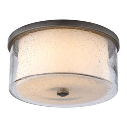 Monte Carlo Fans - Hillsborough Ceiling Fan Light Kit by Monte Carlo Fans - Featuring a Clear Seedy glass outer shade surrounding an Etched Opal glass inner shade, the Monte Carlo Hillsborough Ceiling Fan Light Kit isn't just a great addition to the fan. It can also be installed as a semi-flush ceiling light all its own. It gives a great rustic or early-American touch to any space, especially coupled with its namesake fan. The Monte Carlo Fan Company combines style, technology, and design to offer a diverse and comprehensive product line.