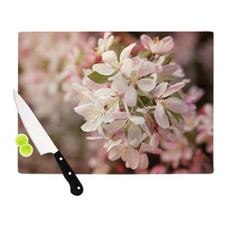 "Kess InHouse - Angie Turner ""Apple Blossoms"" Pink Flower Cutting Board (11"" x 7.5"") - These sturdy tempered glass cutting boards will make everything you chop look like a Dutch painting. Perfect the art of cooking with your KESS InHouse unique art cutting board. Go for patterns or painted, either way this non-skid, dishwasher safe cutting board is perfect for preparing any artistic dinner or serving. Cut, chop, serve or frame, all of these unique cutting boards are gorgeous."
