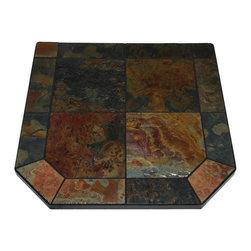"American Panel - Asian Slate Single Cut Corner Stove Board, 40"" x 40"" - Asian Slate Single Cut Corner Stove Board, 40"" x 40""."