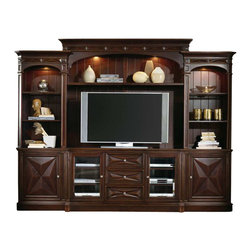 Hooker Furniture - Hooker Furniture Sienna 6 Piece Canyon Home Theater Group - Hooker Furniture - Entertainment Centers - 104271222 - Features: