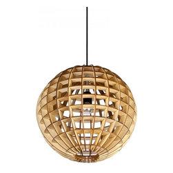 ParrotUncle - Wooden Globe Ball Home Pendant Lamp - Wooden Globe Ball Home Pendant Lamp